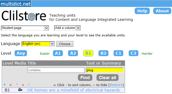 Eurocall european association for computer assisted language learning list of units which appear after searching for a key word in the text and summary of a given unit fandeluxe Images